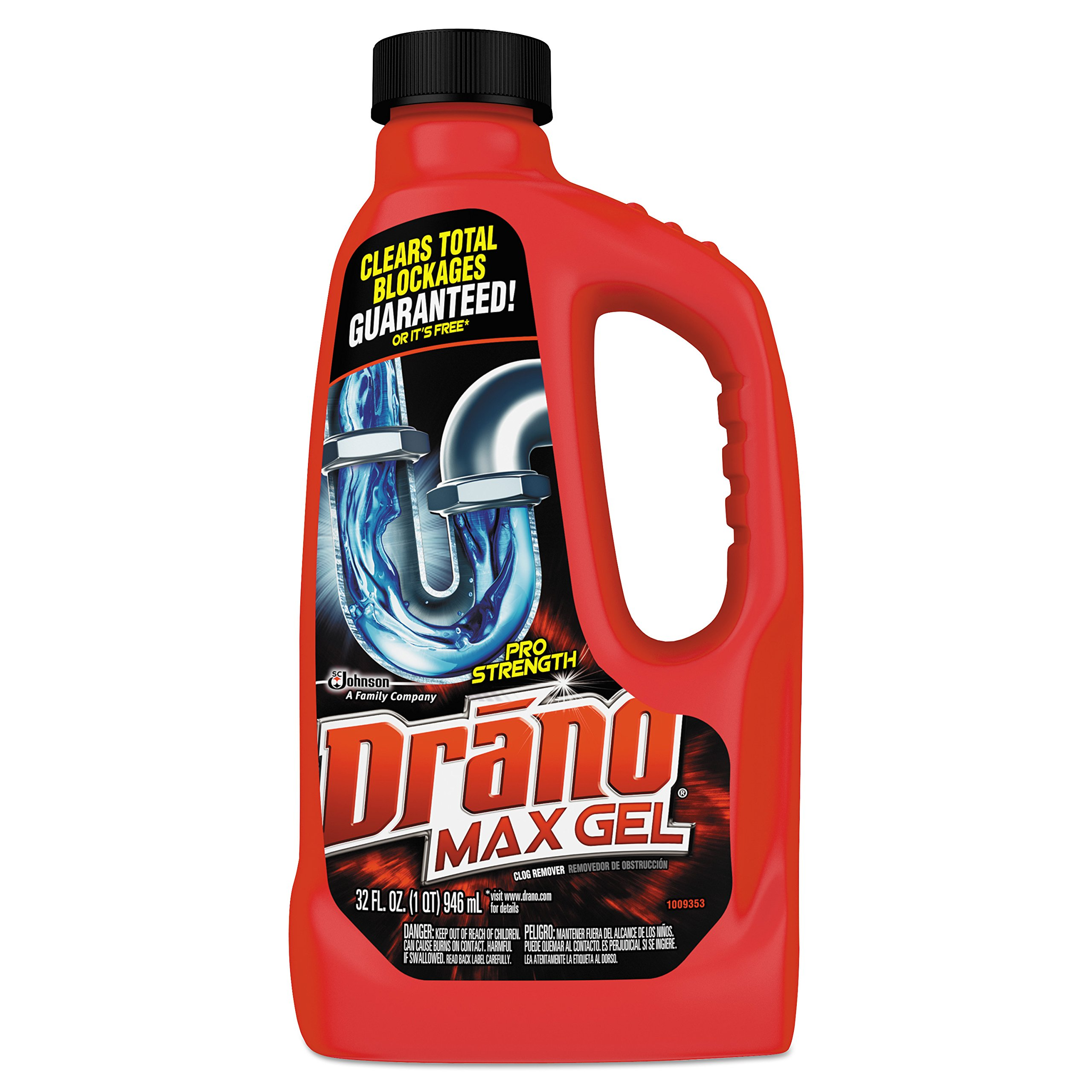 Drano 694768 Max Gel Clog Remover, 32oz Bottle (Case of 12)