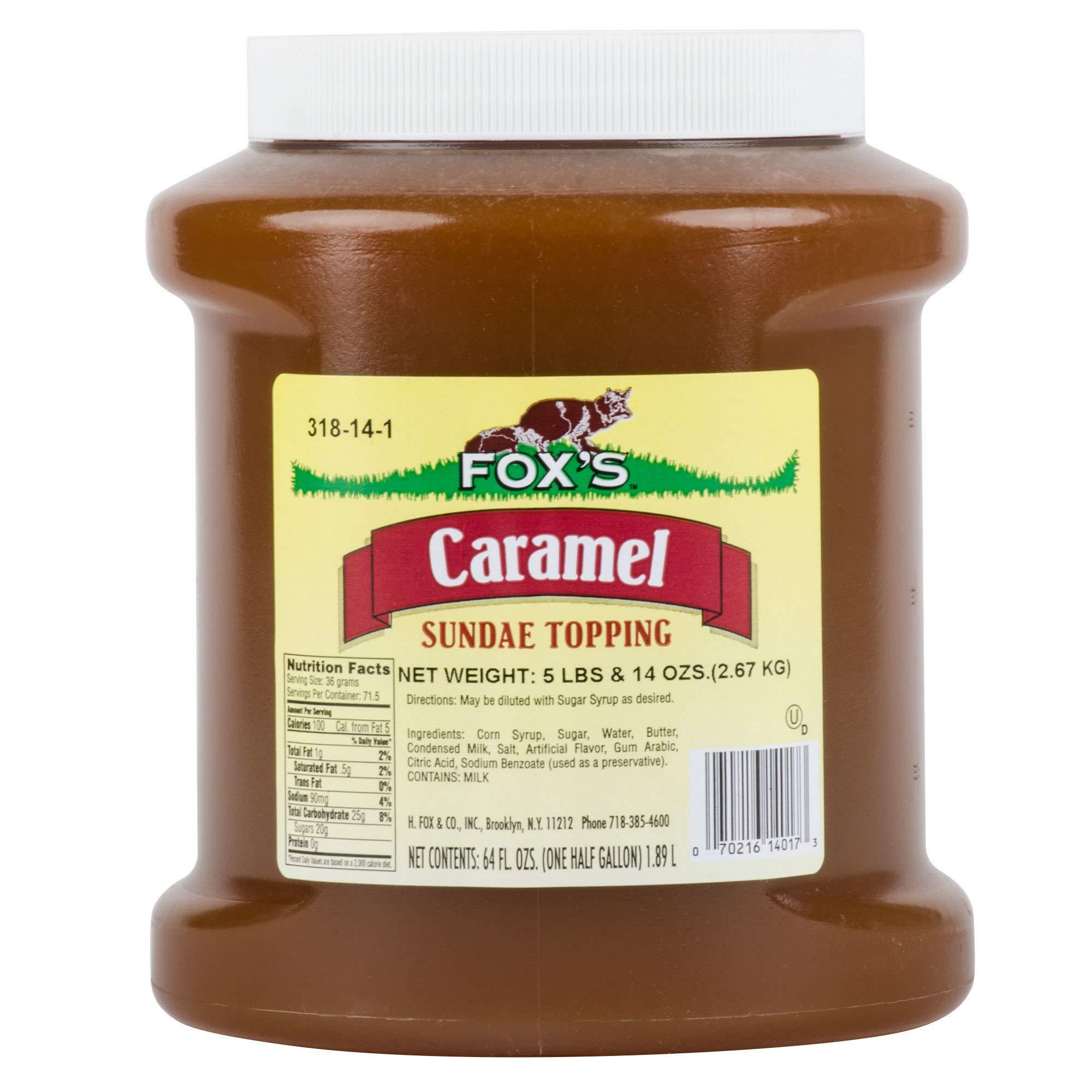 TableTop King 1/2 Gallon Caramel Ice Cream Sundae Topping - 6/Case
