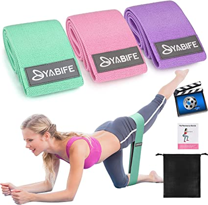Glute Activation and Strengthening Exercises for Men Fabric Resistance Bands