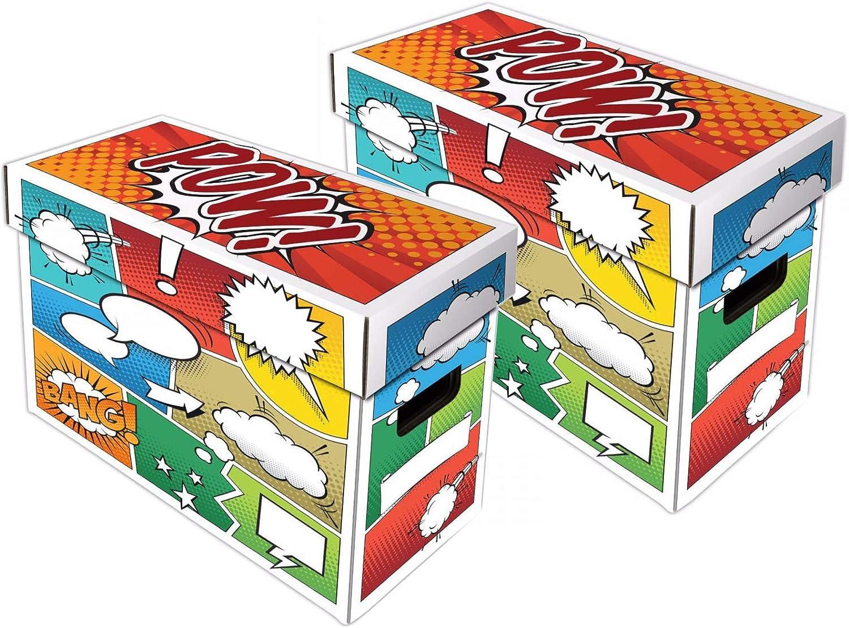 Art Design Holds 150-175 Comics 1 BCW Short Cardboard Comic Box with POW