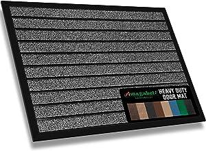 "Amagabeli Large Outdoor Door Mats Rubber Shoes Scraper 36"" x 24"" for Front Door Entrance Outside Doormat Patio Rug Dirt Debris Mud Trapper Waterproof Out Door Mat Low Profile Washable Carpet"