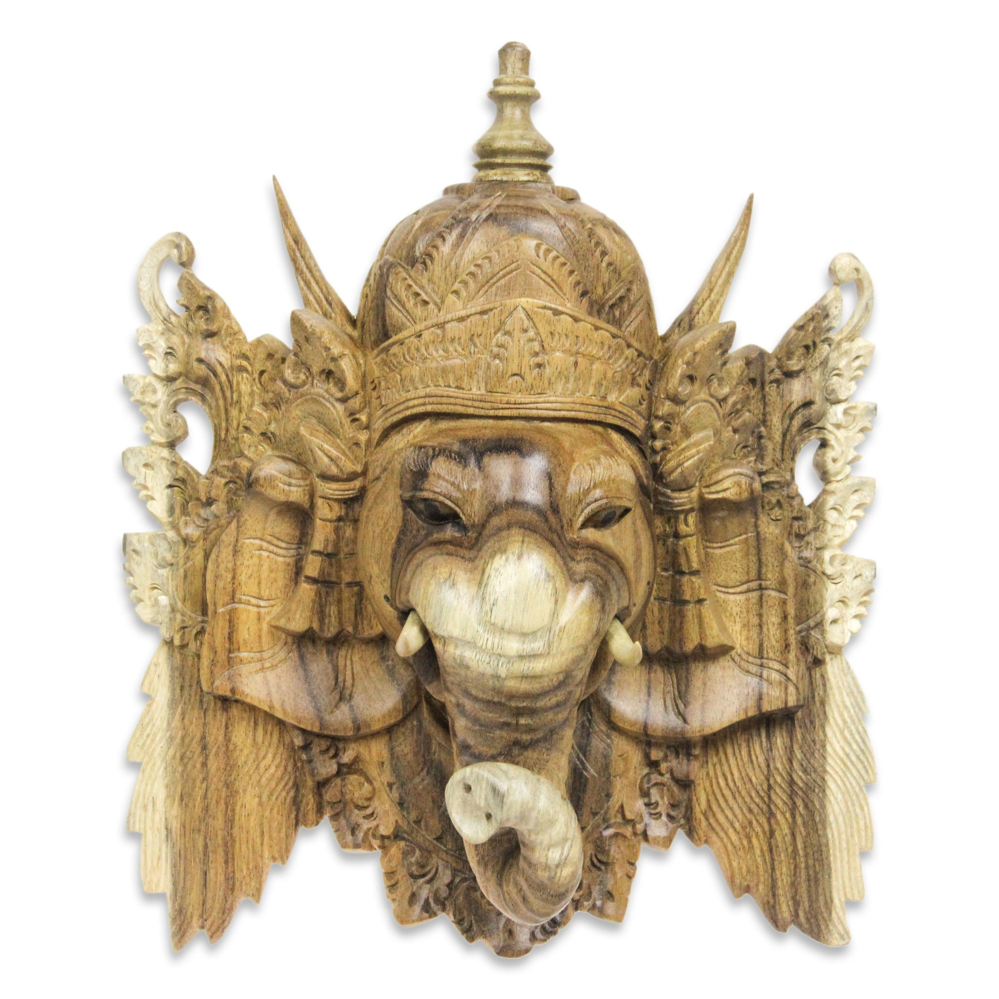 NOVICA 224663 Ganesha Wood mask