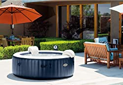 Inflatable 6 Person Hot Tub with Color Changing Lights