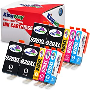 Kingway Compatible Ink Cartridge Replacement for HP 920XL Work with HP Officejet 6500 6500A Plus 7500 7500A 7000 6000 E709 E710 Printer 10 Pack(4 Black,2 Cyan,2 Magenta,2 Yellow)