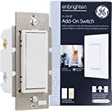 GE Enbrighten Add-On Switch for GE Z-Wave/GE Zigbee Smart Lighting Controls, Works with Alexa, Google Assistant, NOT A STANDA
