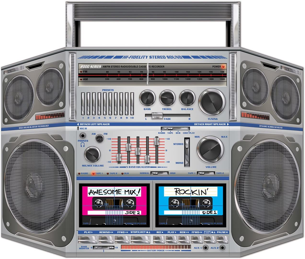 1//Pkg Boom Box Stand-Up Party Accessory The Beistle Company 57851 1 count