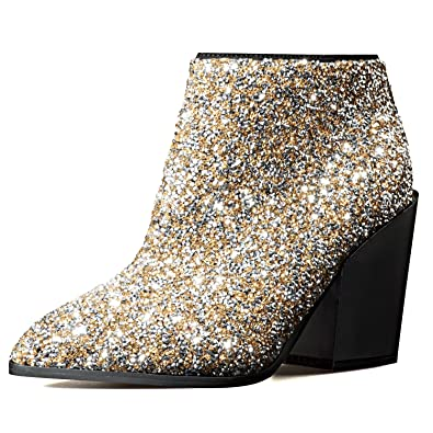 2f9ce40fffc Amazon.com | Pink Palms Women New Winter Snow High Heels, Pointed ...