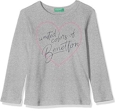 United Colors of Benetton Basic G1, Camiseta de tirantes Niñas, Gris (Grigio Melange 501), 140 (Talla fabricante: L): Amazon.es: Ropa y accesorios