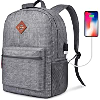 CoolBELL Backpack Casual Daypack Student Book Bag Water-resistant Travel Backpack Multipurpose 15.6 Inches Laptop Backpack for Men/Women (Grey)