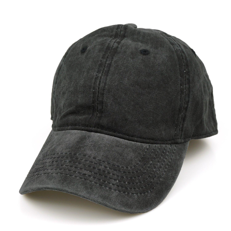 2d2228bdc555d Amazon.com  Guoo Men Women Cotton Adjustable Washed Twill Low Profile Plain  Baseball Cap Hat  Clothing