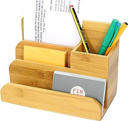 Portapenne Portamatite Bamb/ú Organizzatore da Scrivania a 7 Scomparti