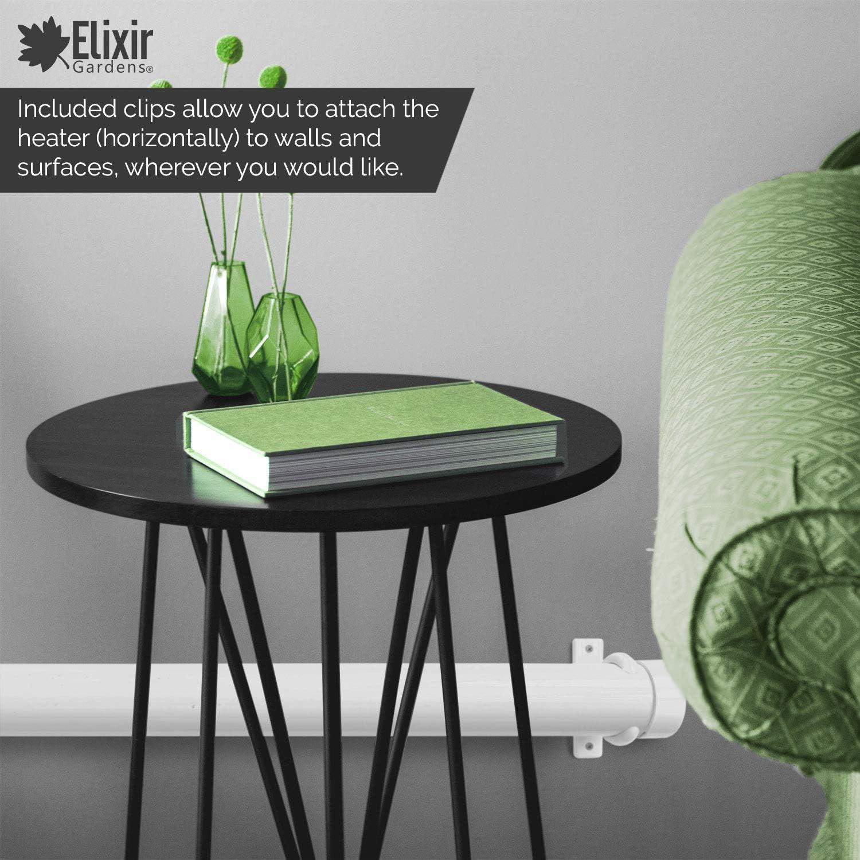 Elixir Gardens TH01 Rohrheizk/örper 55 W 50 cm mit integrierter einstellbarer Temperaturregelung