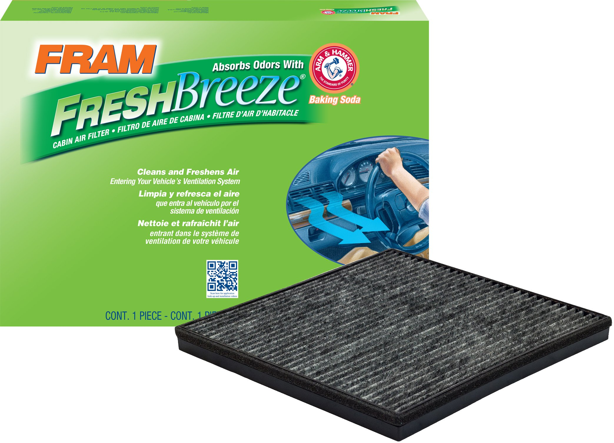 FRAM CF11667 Fresh Breeze Cabin Air Filter with Arm & Hammer by Fram