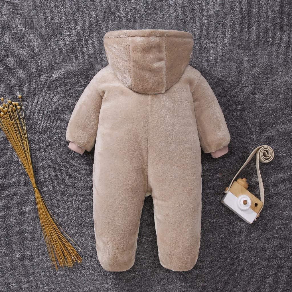 Set di Vestiti Caldi Tuta da Neve Felpa con Cappuccio Pagliaccetto Invernale Abbigliamento per Bambini Tuta da Neve con Cappuccio Pagliaccetto per Neonati Tutina da Gioco 95sCloud