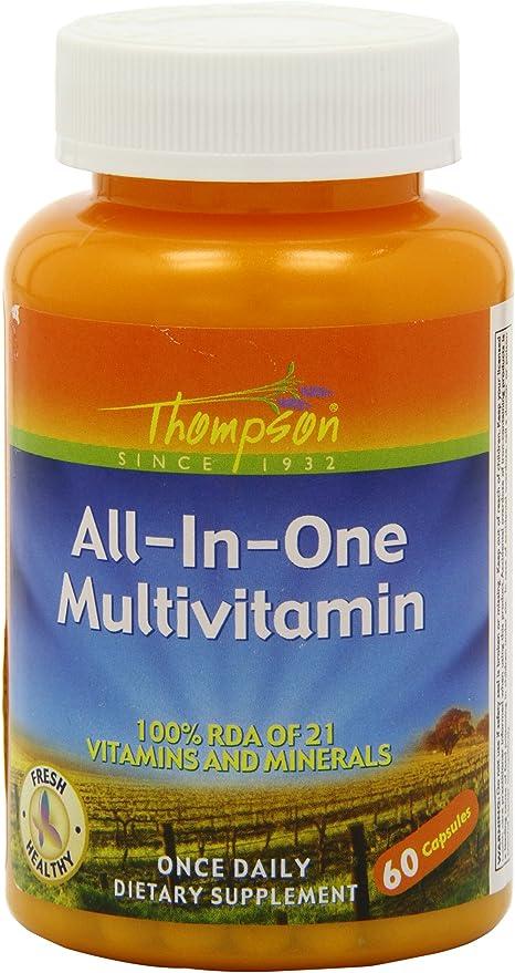 Amazon | オールインワン・マルチビタミン 60Vcaps | Thompson ...