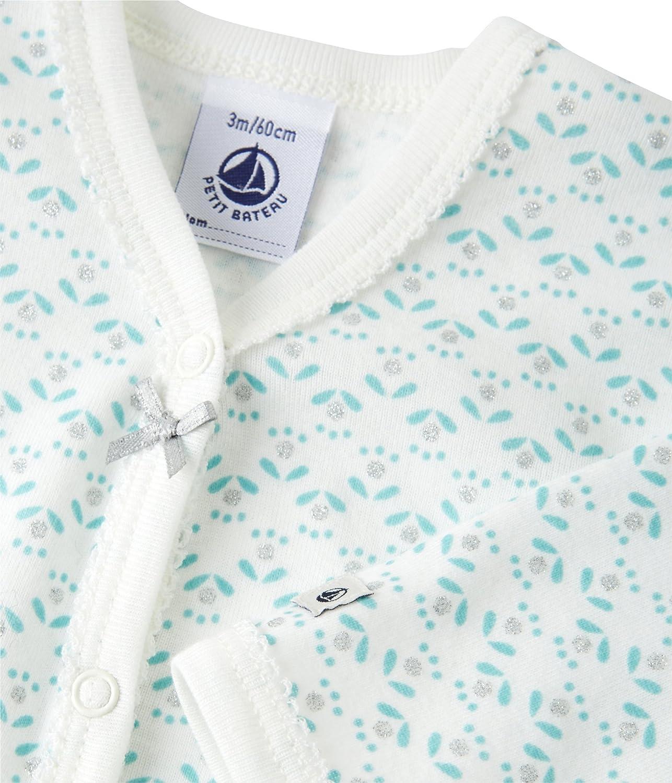 Petit Bateau Lyna Conjuntos de Pijama, Bebé-Niñas, (Lait/Multico), 62 (Tamaño del Fabricante:3M): Amazon.es: Ropa y accesorios