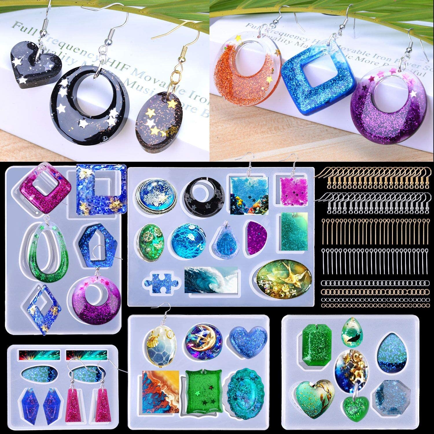 Epoxy Mold Earring Pendant Silicone Jewelry Craft Tool Resin Mould Casting DIY