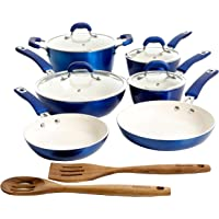 Kenmore Arlington Nonstick Ceramic Coated Forged Aluminum Induction Cookware with Bakelite Handles, 12-Piece Set…