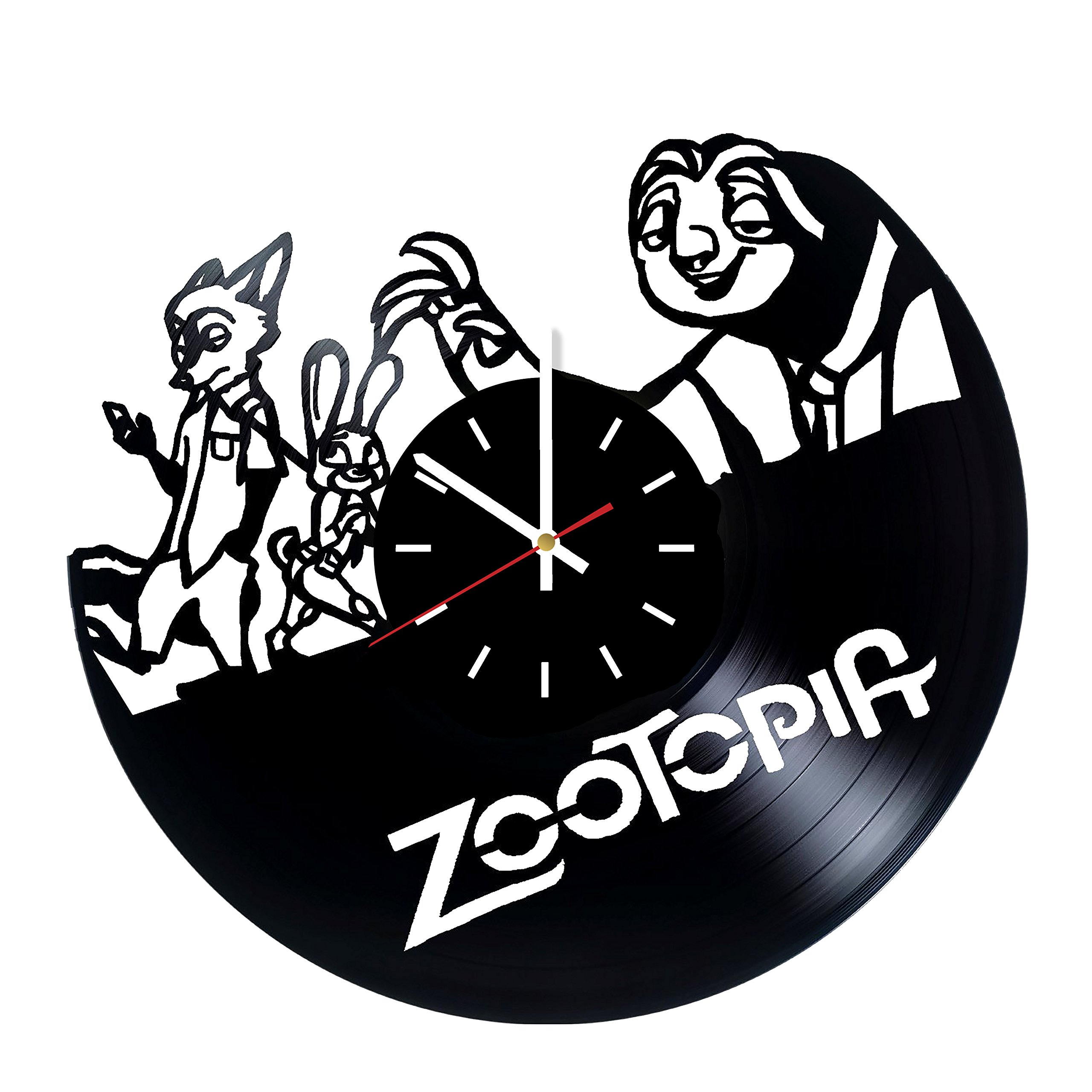 Everyday Arts Zootopia Walt Disney Animation Studios Design Vinyl Record Wall Clock - Get Unique Bedroom or Garage Wall Decor - Gift Ideas for Friends, Brother - Darth Vader Unique Modern Art