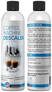 (4 Use - 2 Pack of 2 Use Bottles) Liquid Descaling Solution for Keurig, Nespresso, Ninja, Delonghi & All Single Use or Drip Coffee Machines & Espresso Makers - Descaler Made in the USA by FreshFlow