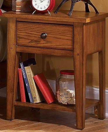 Liberty Furniture INDUSTRIES 175-BR60 Grandpa s Cabin Night Stand, 22 x 16 x 27 , Aged Oak