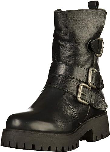 Buffalo Damen Mauve Morn FUR IBEROCRUST Leather Stiefeletten, Schwarz  (Black969 00), 36 ecb3f90753