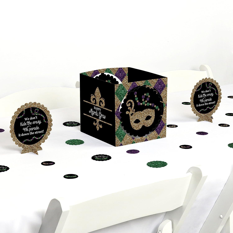 Mardi Gras - Masquerade Party Centrepiece & Table Decoration Kit B0792FGD3D
