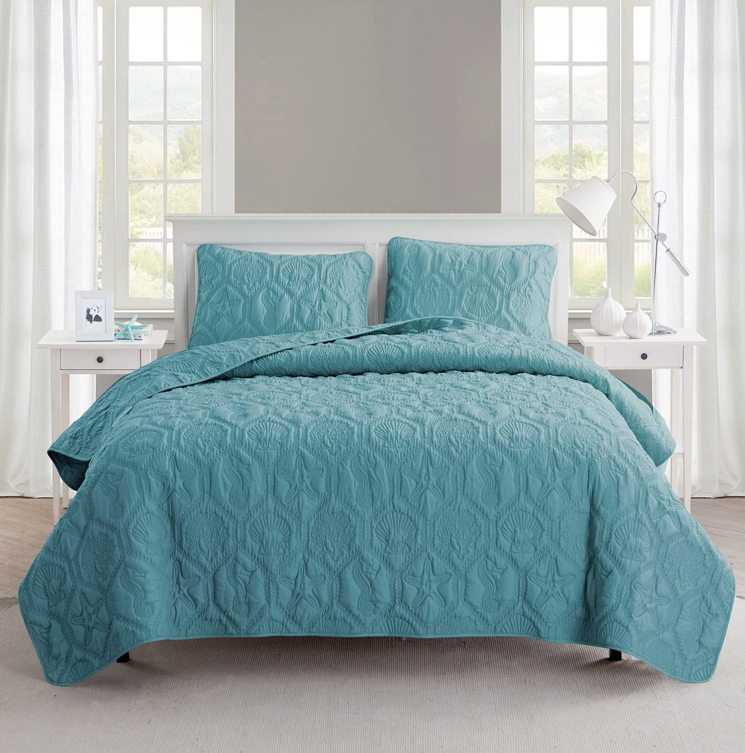VCNY Home Shore Quilt Set King Blue