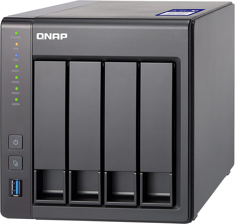 QNAP TS-431X2-2G Solución NAS de Escritorio de 4 bahías y 8 TB | Instalado con 4 x 2TB Western Digital Red Pro Drives