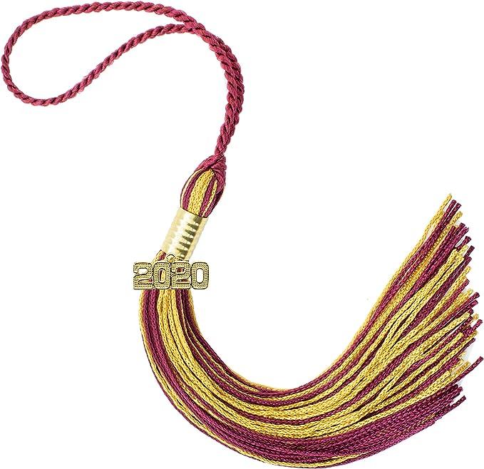 GraduationRoyal 9 inch Graduation Tassel Maroon with Gold 2020 ...
