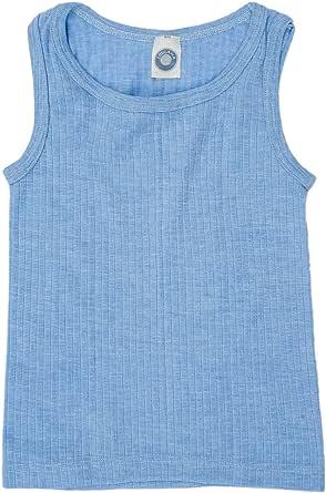 Cosilana, Camiseta de tirantes para niños, 45 % algodón KBA, 35 % lana, 20 % seda.