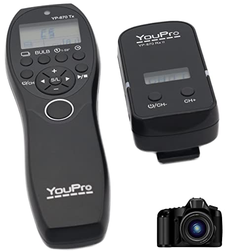 jrui YouPro 2,4 G Wired/Wireless Shutter Temporizador Mando A ...
