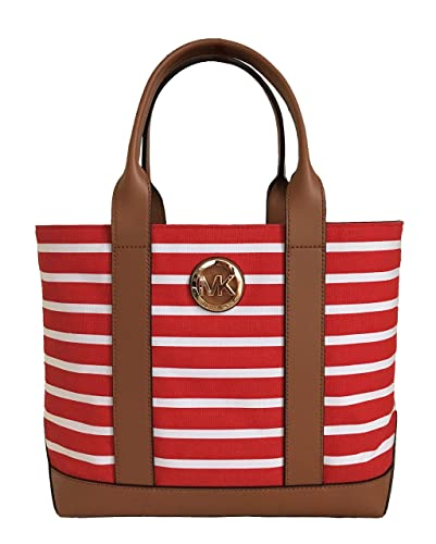 b6b6f169a05d Image Unavailable. Image not available for. Color: Michael Kors Fulton  Canvas , Dark Sangria/OptWhite, Leather Trim