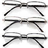 Half Rimmed Rectangular Reading Glasses For Men