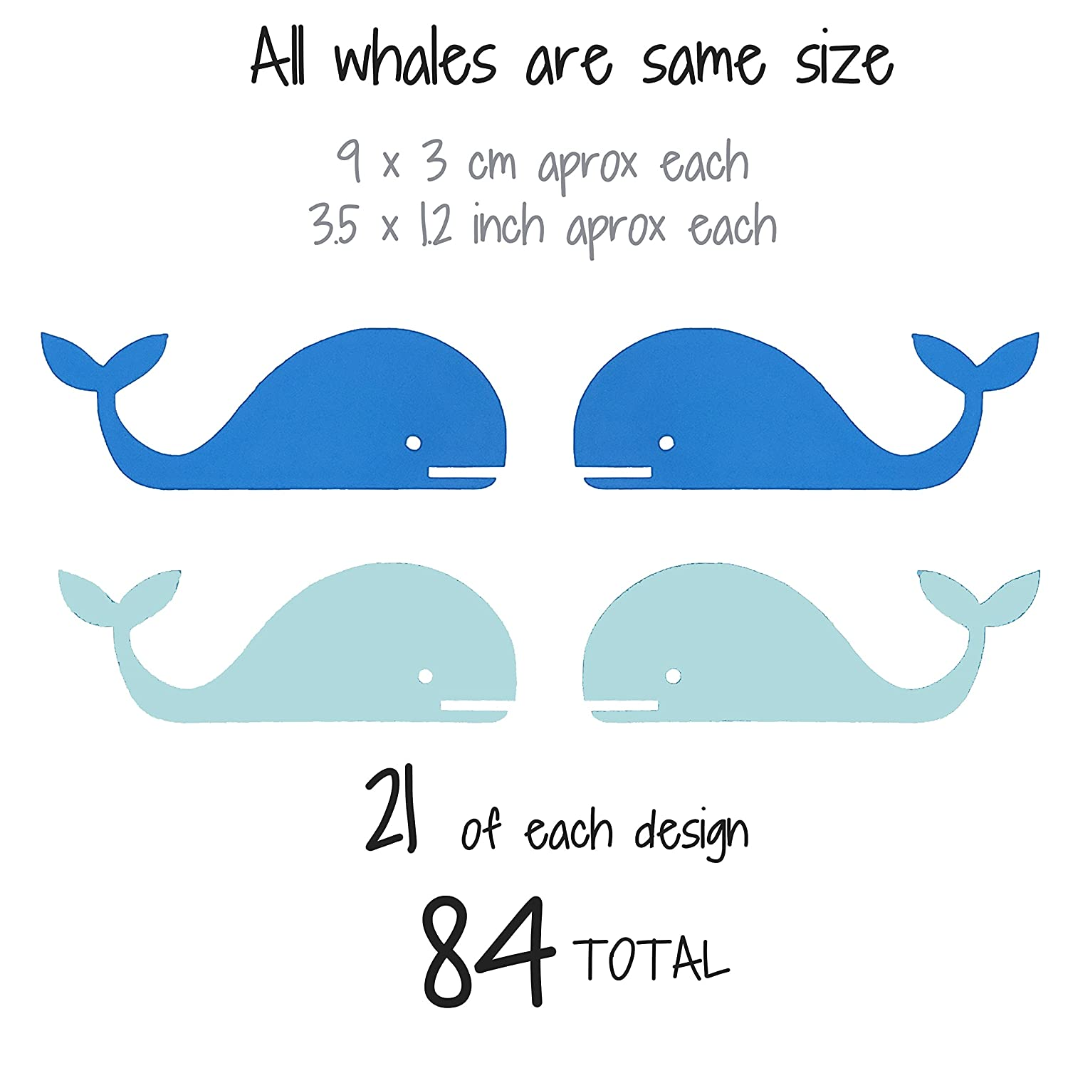 Baby Nordic ballena Bedroom Decoration. Light Blue Blue The Boho Design WHALES WALL VINYL DECAL DECOR NURSERY Adhesive whale stickers Kids