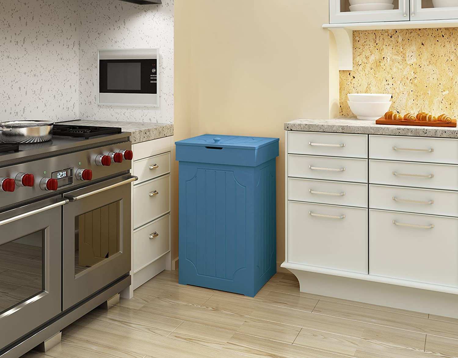 Amazon.com: Home-Like Kitchen Garbage Can with Lid Wood Country ...