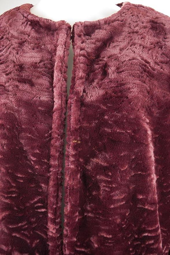 VLab Mujer Abrigo De Piel Sintética Tipo De Astracán 46 L Burdeos Burdeos, 46: Amazon.es: Ropa y accesorios