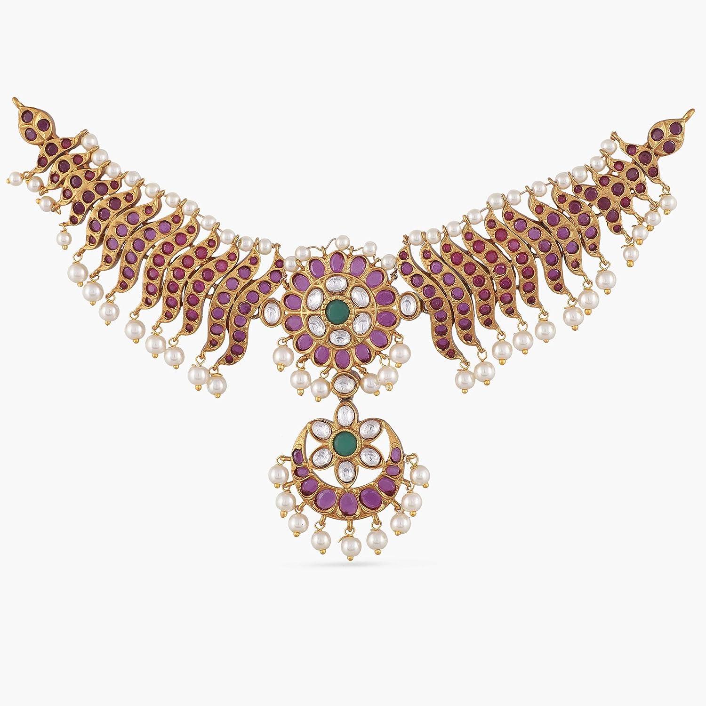 0a6c4bc1805f2b Amazon.com: Tarinika Yami Gold-Plated Indian Choker Necklace Set: Jewelry