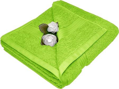 2 essuie main coton s/érie serviettes de bain 50x100 cm Lashuma serviettes de toilette bleu aigue-marine Linz