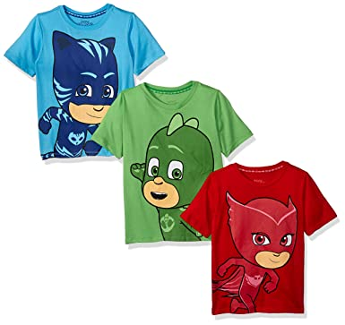 PJ MASKS Little Boys 3 Pack Tees, ...