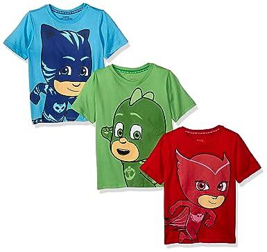 46540feb0 Amazon.com: PJ Masks 3 Pack Boys Tees: Clothing