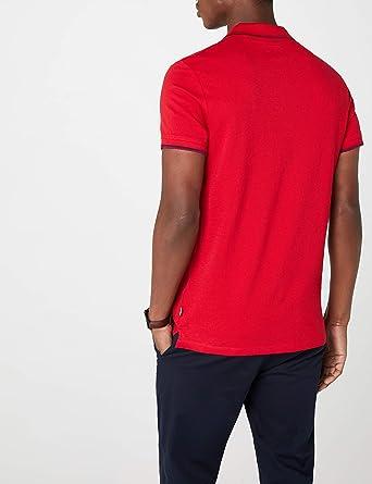 edc by Esprit 028cc2k036, Polo para Hombre, Rojo (Red 630), Small ...