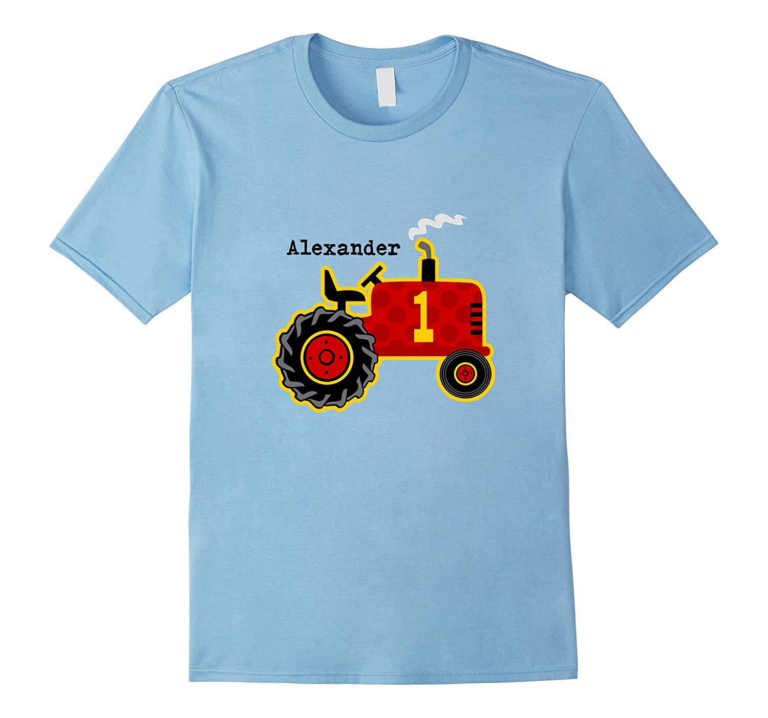 734c2985 Red Tractor 1st Birthday Personalized – 1st Birthday T-Shirt-CL ...