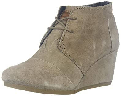bac70042bcc Image Unavailable. Image not available for. Color  TOMS Women s Desert  Wedge Bootie ...