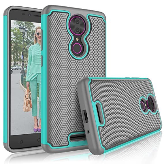 wholesale dealer df42e b5ef0 T-Mobile Revvl Plus case, Coolpad Revvl Plus Cute Case, Tekcoo [Tmajor]  Shock Absorbing [Turquoise] Hybrid Rubber Silicone & Plastic Scratch  Resistant ...