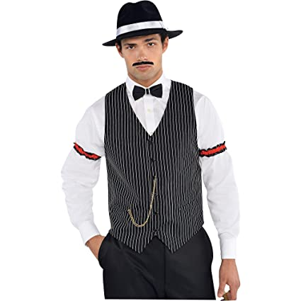 273bc5a9bf5 AMSCAN Roaring 20s Gangster Vest Halloween Costume Accessories, One Size