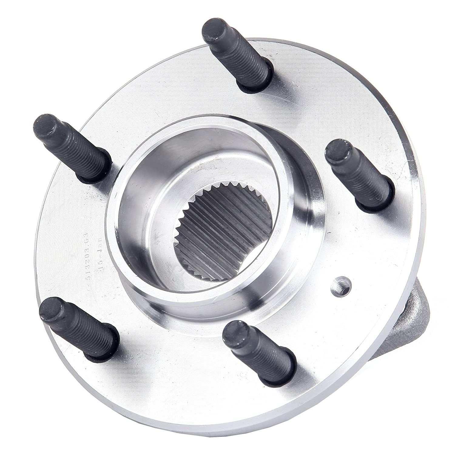 cciyu Compatible fit for 513203 New Front Left Or Right Wheel Hub Bearing Fits Impala Grand Prix Rendezvous 5 Lug W//O ABS