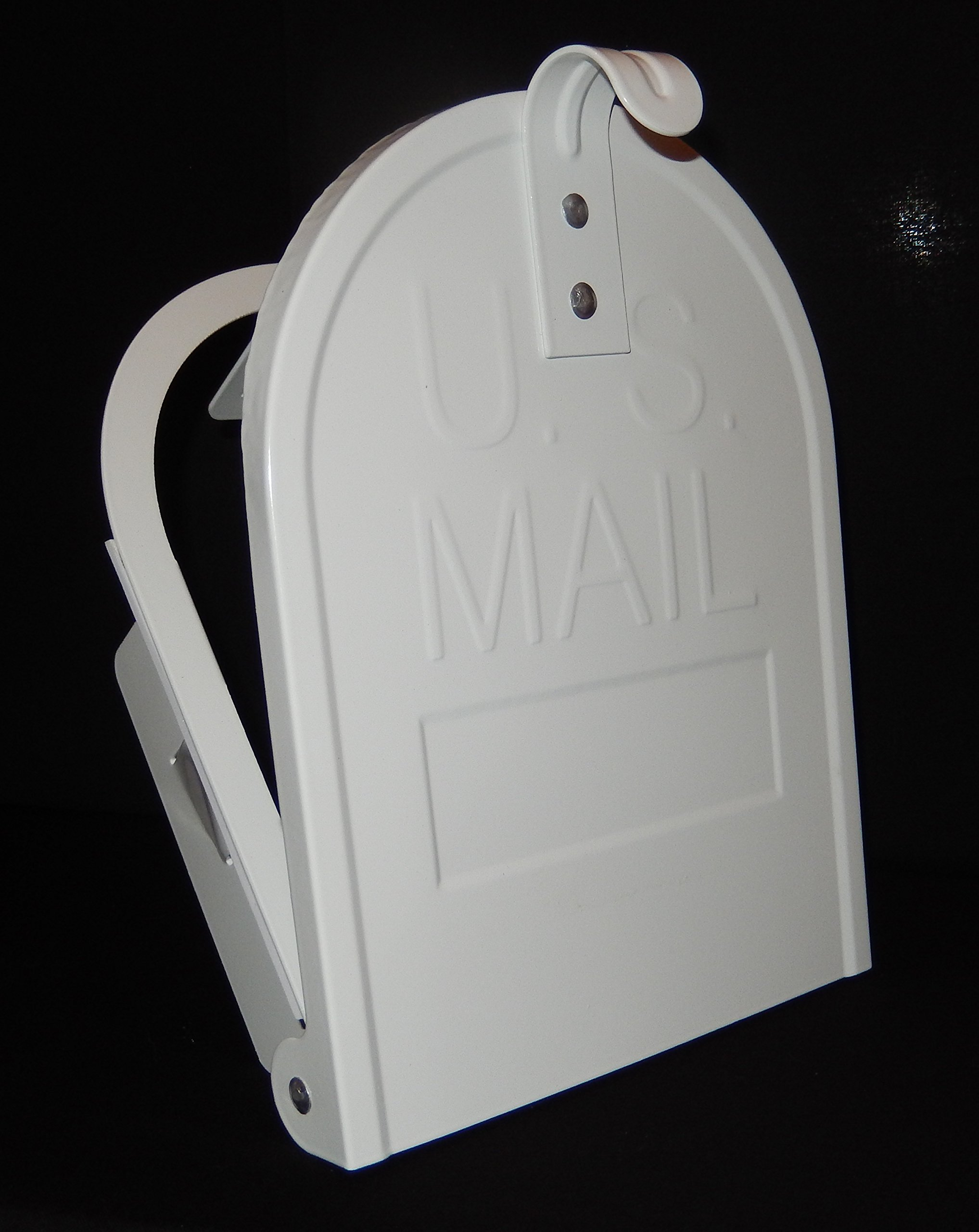 6 1/4 Inch (Width) by 8 Inch (Height) RetroFit ''Snap-In'' Mailbox Door Replacement - White