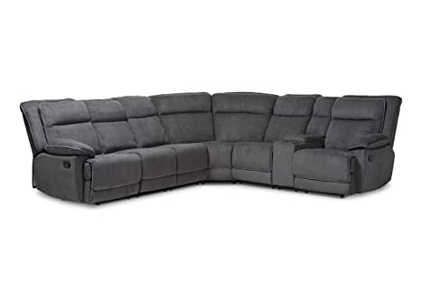 Incredible Baxton Studio Sababette Sectional Sofa Gray Bralicious Painted Fabric Chair Ideas Braliciousco
