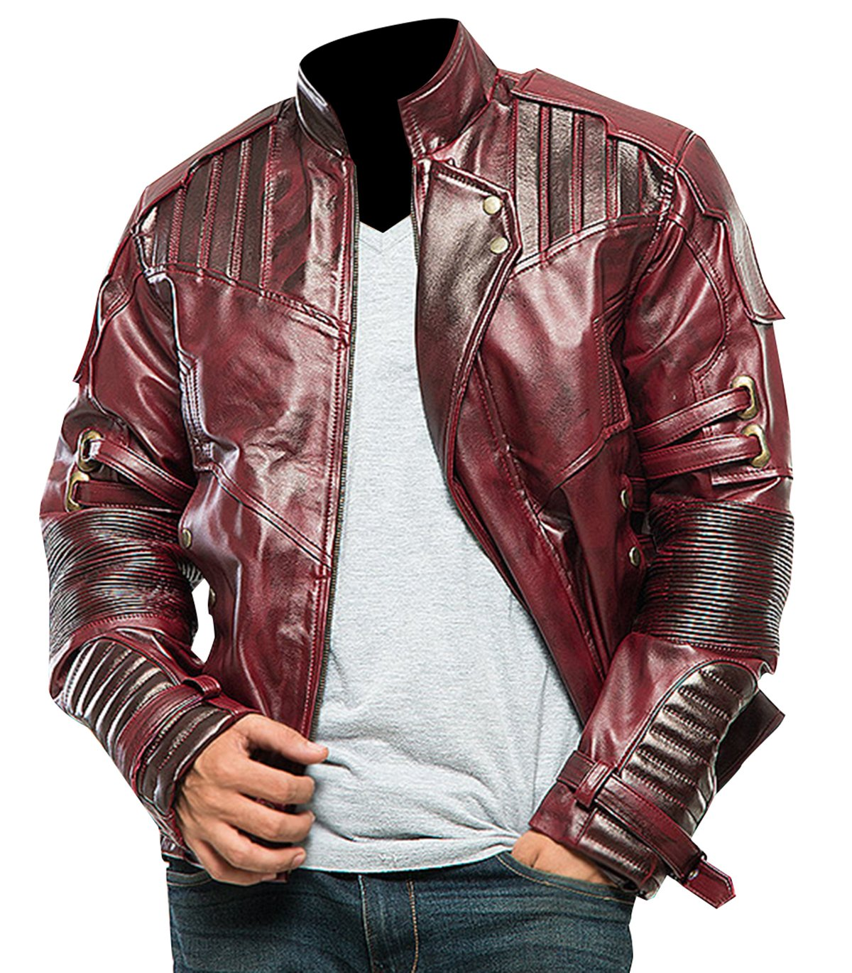 Guardians of the Galaxy Vol 2 Star Lord Peter Quill Synthetic Jacket by Spazeup